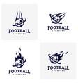 Set of soccer football badge logo design