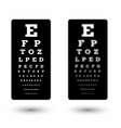 sharp and unsharp black snellen chart vector image