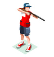 Shooting 2016 Sports 3D Isometric vector image vector image