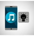 smartphone music online creativity vector image vector image