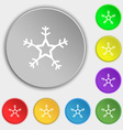 snow icon sign Symbol on eight flat buttons vector image vector image