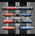 sport lower thirds vector image vector image