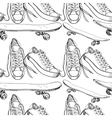 Sport shoes with skateboard vector image vector image
