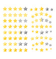 stars quality rating vector image vector image
