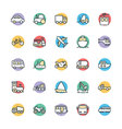 Transport Cool Icons 1 vector image