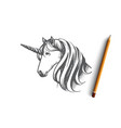 unicorn concept hand drawn isolated vector image