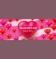 valentines day sale banner february special offer vector image