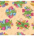 Vintage bright floral pattern vector image vector image