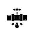 water pipes black icon sign on isolated vector image vector image