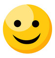 yellow smiling happy face emoji isolated vector image vector image