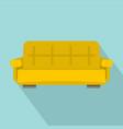 yellow sofa icon flat style vector image vector image