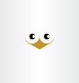 cute bird face icon vector image
