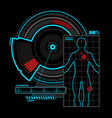 Health scanner interface vector image