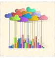 Rainbow city Concept background vector image