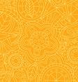 orange floral flower pattern doodle vector image