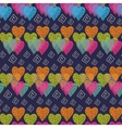 Abstract multicolored hearts vector image vector image