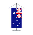 australian flag on the metallic cross pole vector image vector image