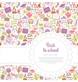Back to school background with space for text vector image vector image