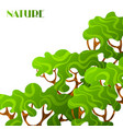 background with abstract stylized trees natural vector image vector image