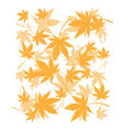 background with dead autumn leaves orange foliage vector image vector image