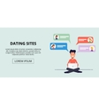 Banner for a dating site Young man talking to the vector image vector image