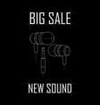 big sale of vacuum headphones vector image vector image