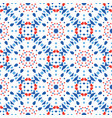 blue red pattern flower tile background vector image vector image