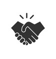 business handshake contract agreement flat icon vector image vector image