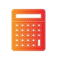 Calculator simple sign Orange applique isolated vector image vector image