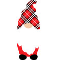 christmas gnome in red hat funny characters for vector image vector image