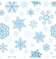 Christmas seamless pattern with blue snowflakes vector image vector image