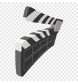 clapperboard cinema cartoon icon vector image