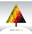 Colorful geometric Christmas tree vector image vector image
