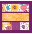 colorful oriental flowers horizontal vector image
