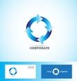Corporate arrow circle logo loop seamless vector image vector image