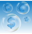 currency bubble vector image vector image