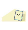 cute notebook cartoon comic character with smiling vector image vector image