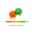 emoticons temperature scale with speech bubbles vector image vector image