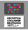 English alphabet on a gray background Set vector image vector image