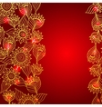 Floral red elegant lace ornament template vector image
