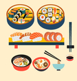 food icon sushi Japanese food vector image