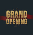 grand opening business startup ceremony vector image vector image