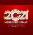 greeting card merry christmas 2021 rich alphabet vector image vector image