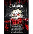 Halloween grunge flyer vector image