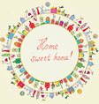 Home sweet - funny graphic card vector image vector image