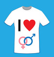 i love t-shirt bisexual vector image vector image