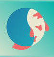 koi fish logo icon vector image