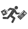 Late Passenger Icon Rubber Stamp vector image
