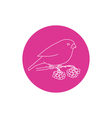 Linear Icon Bullfinch vector image vector image