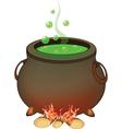 Magic Cauldron Halloween Accessory Object vector image vector image